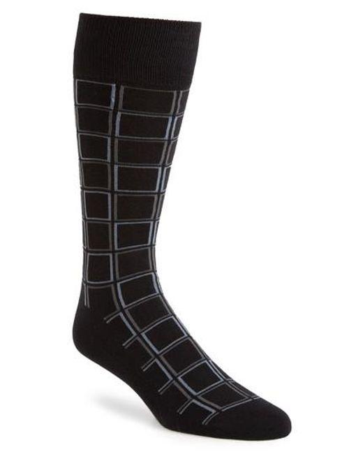 Calibrate | Black Check Socks for Men | Lyst