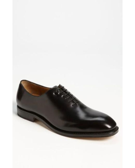 Ferragamo | Black 'carmelo' Plain Toe Oxford for Men | Lyst