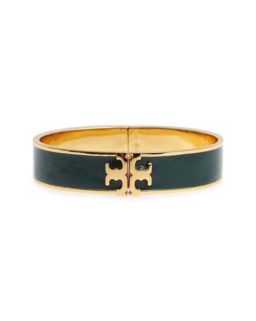Tory Burch - Multicolor Raised Logo Enamel Hinge Bracelet - Lyst