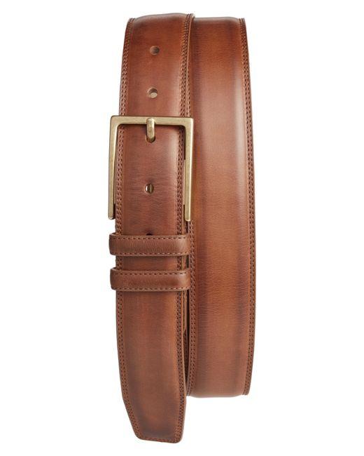 Mezlan - Brown Nobuk Leather Belt for Men - Lyst