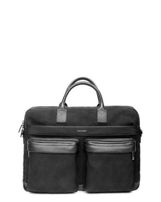 Hook + Albert - Black Canvas Laptop Briefcase - for Men - Lyst
