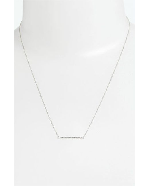 Bony Levy | White Diamond Bar Necklace (nordstrom Exclusive) | Lyst