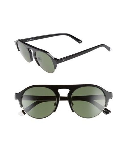 Web - 52mm Sunglasses - Shiny Black/ Green - Lyst