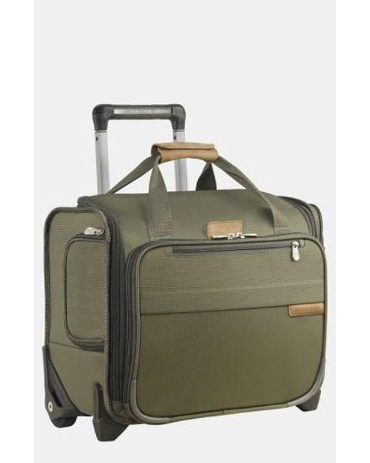Briggs & Riley | Green 'baseline' Rolling Cabin Bag for Men | Lyst