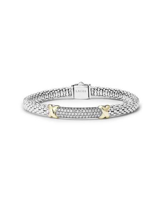 Lagos | Metallic 'diamond Lux' Diamond Rope Bracelet | Lyst
