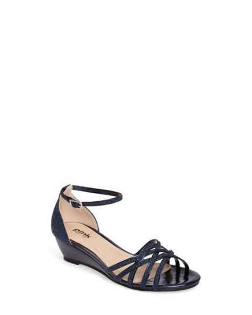 Paradox London Pink - Blue Avery Wedge Sandal - Lyst