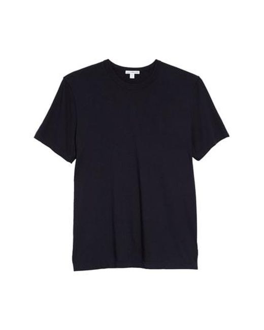 James Perse - Blue Crewneck Jersey T-shirt for Men - Lyst