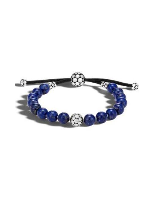 John Hardy | Blue Dot Bead Bracelet | Lyst