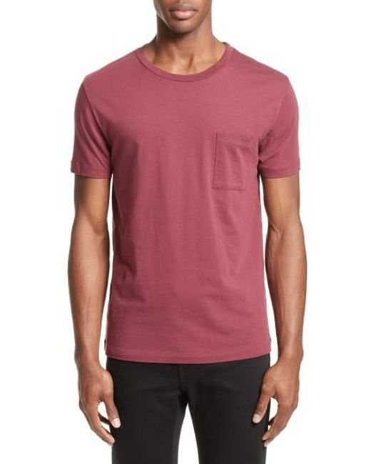 Levi 39 S Levi 39 S Made Crafted Tm Pocket T Shirt In Red For