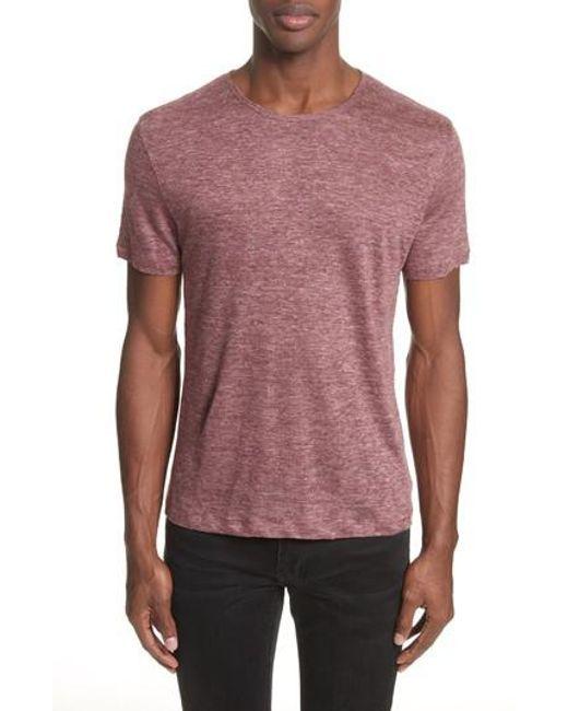 John Varvatos - Multicolor Linen T-shirt for Men - Lyst