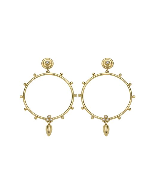 Temple St. Clair - Metallic 18k Gold & Diamond Circle Anfora Earrings - Lyst