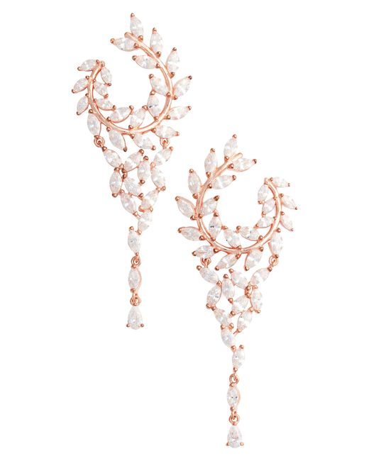 Nina - Multicolor Fern Chandelier Drop Earrings - Lyst