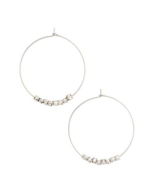 Nashelle | Metallic Karly Glistening Hoop Earrings | Lyst