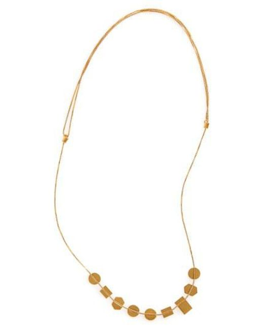 Madewell - Metallic 'holding Pattern' Necklace - Lyst