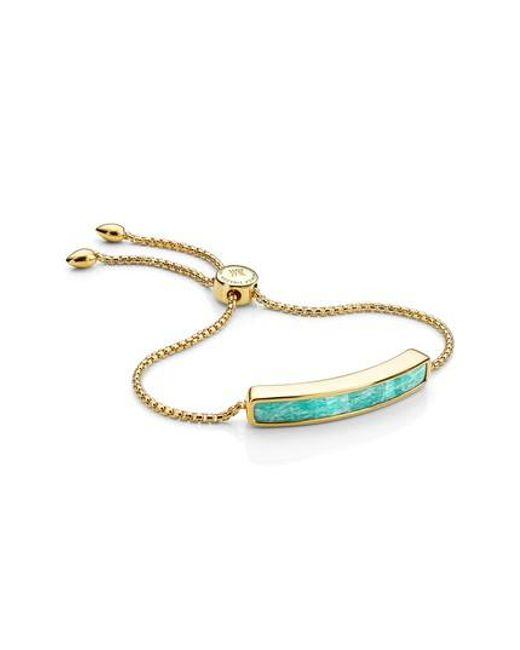 Monica Vinader   Metallic Baja Stone Bracelet   Lyst