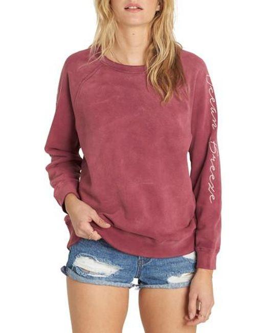 Billabong   Pink Off Chance Pullover   Lyst
