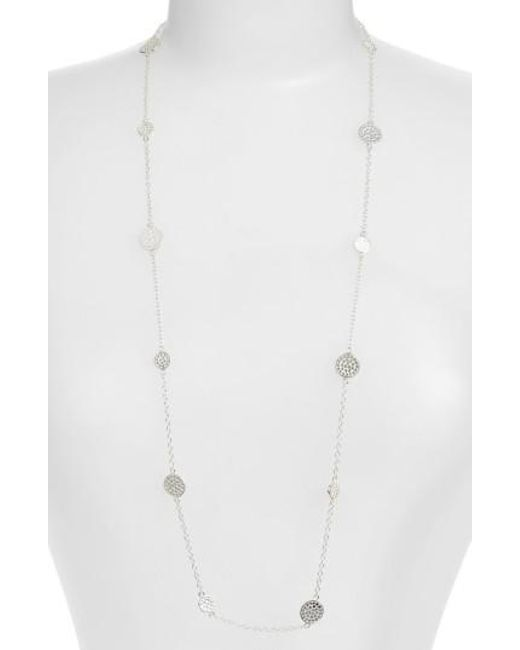Anna Beck   Metallic 'gili' Long Station Necklace   Lyst