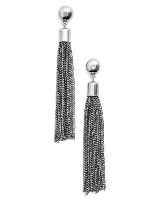 Karine Sultan | Metallic Tassel Drop Earrings | Lyst
