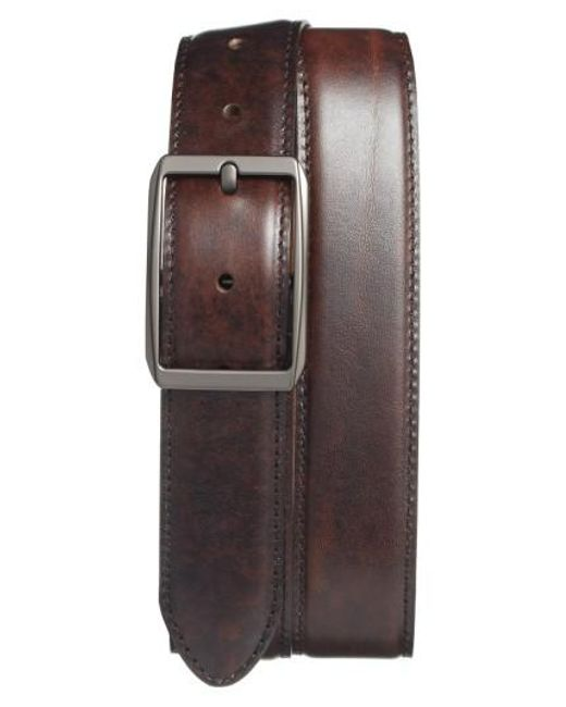 Bosca | Brown Reversible Leather Belt | Lyst