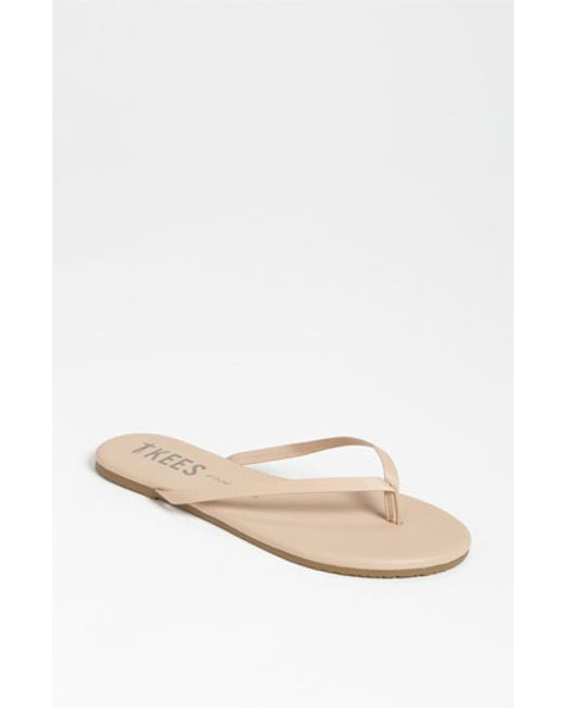 TKEES | Brown 'foundations' Flip Flop | Lyst