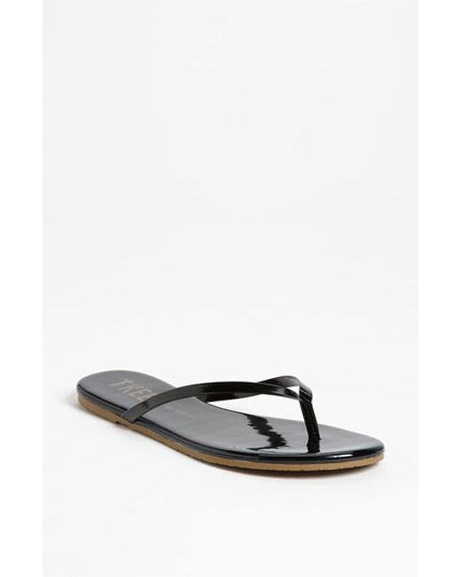 TKEES | Black 'glosses' Flip Flop | Lyst