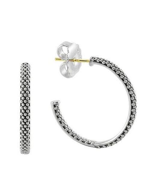 Lagos | Metallic Caviar Hoop Earrings (online Only) | Lyst