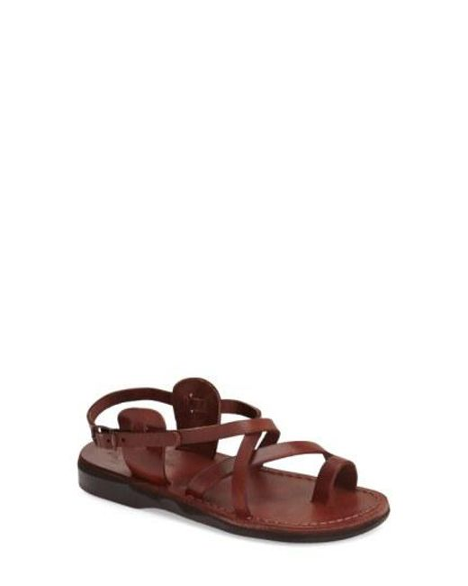 Jerusalem Sandals - Brown The Good Shepard Leather Sandals  - Lyst