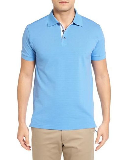 Bobby Jones | Blue Solid Pique Golf Polo for Men | Lyst