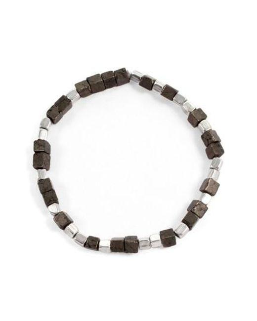 George Frost | Metallic Eternal Morse Beaded Bracelet | Lyst