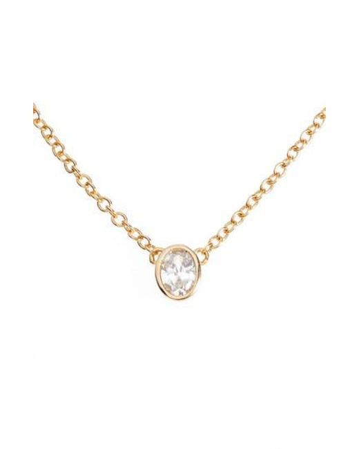 Melinda Maria   Metallic Single Thorn Pendant Necklace   Lyst