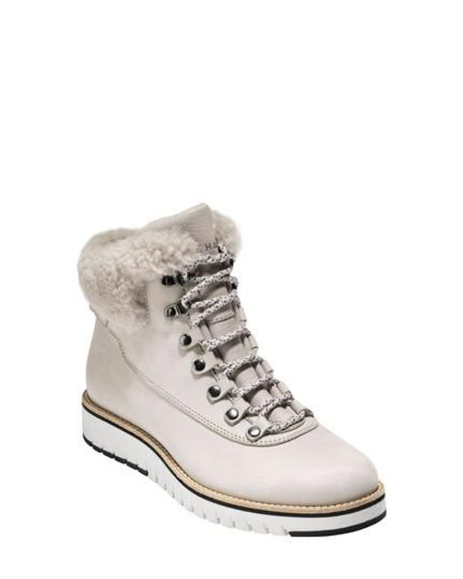 Cole Haan - Gray Grandexpl?re Genuine Shearling Trim Waterproof Hiker Boot - Lyst