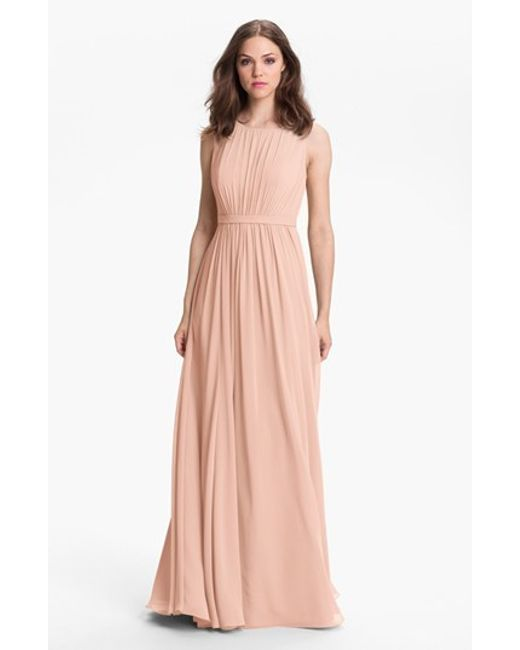 Jenny Yoo | Pink 'vivienne' Pleated Chiffon Gown | Lyst