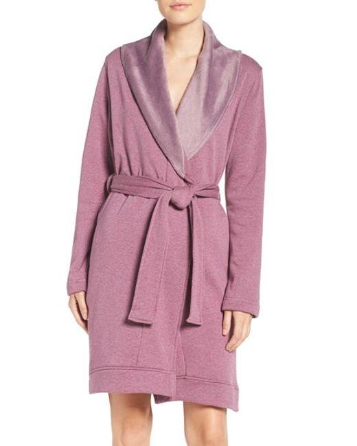 Ugg   Pink Ugg 'blanche' Robe   Lyst