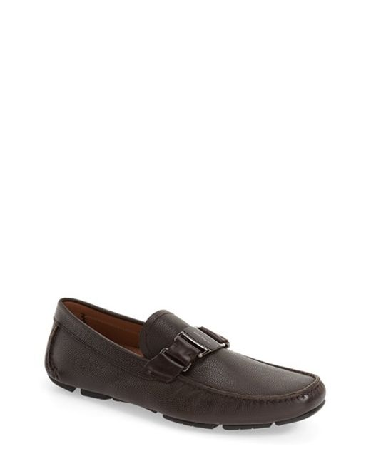 Ferragamo | Brown 'sardegna' Driving Shoe for Men | Lyst