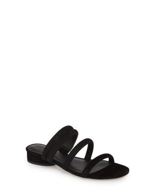 Rebecca Minkoff - Black Kade Strappy Slide Sandal - Lyst