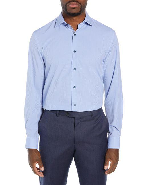W.r.k. - Blue Trim Fit 4-way Stretch Houndstooth Dress Shirt for Men - Lyst