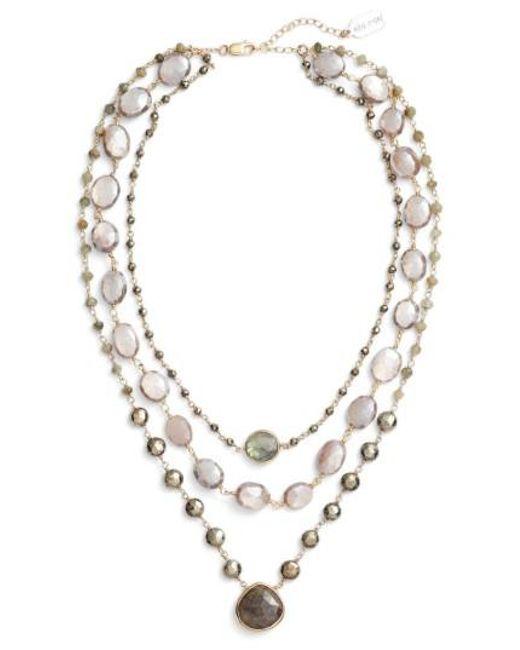 Ela Rae - Metallic Multistrand Necklace - Lyst