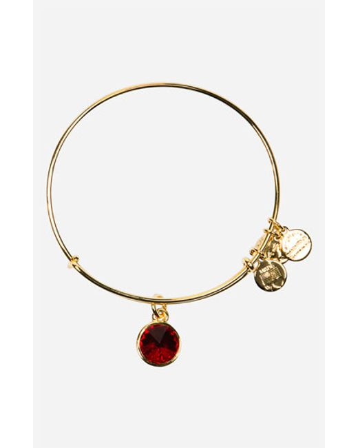 ALEX AND ANI | Metallic Birthstone Expandable Wire Bangle | Lyst