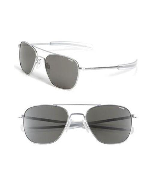 Randolph Engineering | Gray 55mm Aviator Sunglasses for Men | Lyst