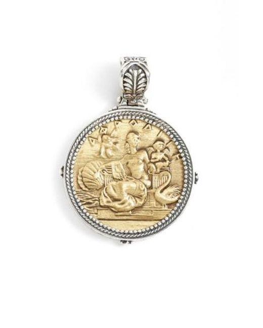 Konstantino | Metallic 'aphrodite' Coin Pendant | Lyst