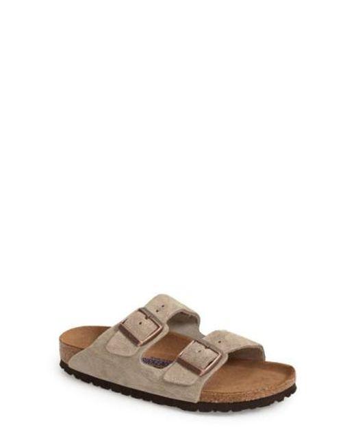 Birkenstock   Natural 'arizona' Soft Footbed Suede Sandal   Lyst