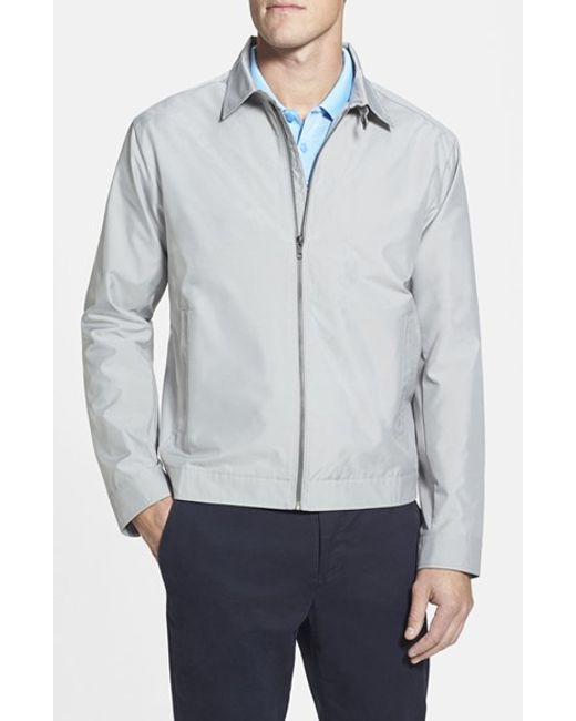 Cutter & Buck | Gray 'weathertec Mason' Wind & Water Resistant Jacket for Men | Lyst