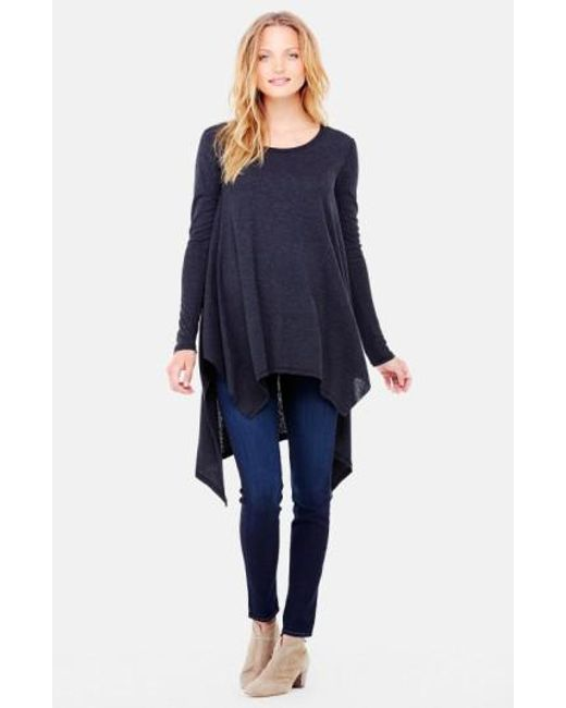 Ingrid & Isabel - Black Ingrid & Isabel Handkerchief Maternity Tunic Top - Lyst