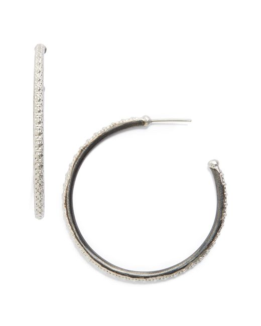 Armenta - Metallic Old World Midnight Hoop Earrings - Lyst
