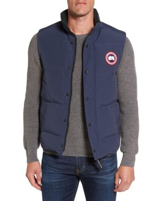 Canada Goose - Blue Garson Quilted Down Vest for Men - Lyst