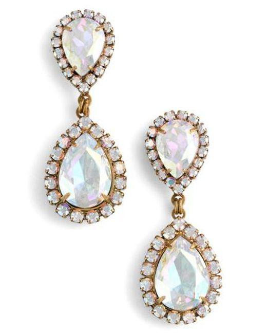 Loren Hope | Metallic Crystal Drop Earrings | Lyst
