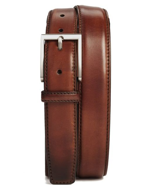 Saks Fifth Avenue | Brown Catania Leather Belt for Men | Lyst