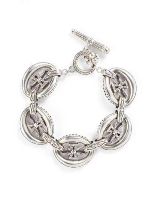 Konstantino | Metallic 'penelope' Cross Link Bracelet | Lyst