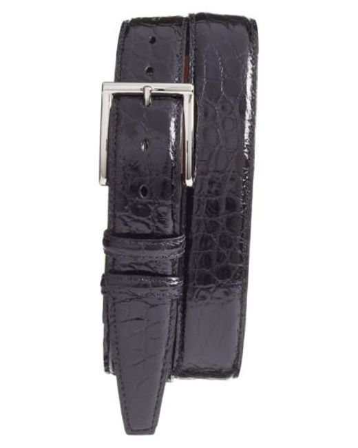 Torino Leather Company - Black Genuine American Alligator Leather Belt for Men - Lyst