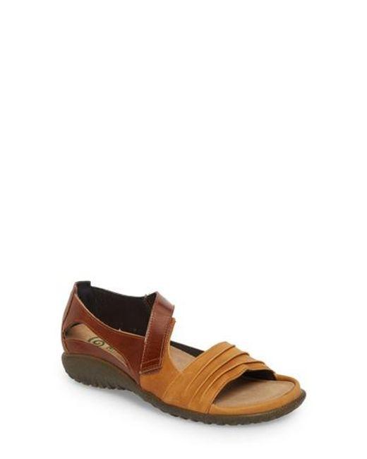 Naot | Black 'papaki' Sandal | Lyst
